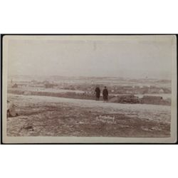 Original B&W cabinet card  Birds Eye View of Pine Ridge Agency SD  marked on reverse Northwestern Ph