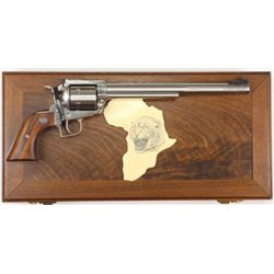 "Ruger Super Black Hawk .44 mag. SN 85-02269 Leopard Safari Series #33/200 by Mag-Na-Port, 10 1/2"" ba"