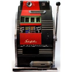 1 cent Sega Mad Money slot machine with original paint and back, an exceptionally nice machine in wo