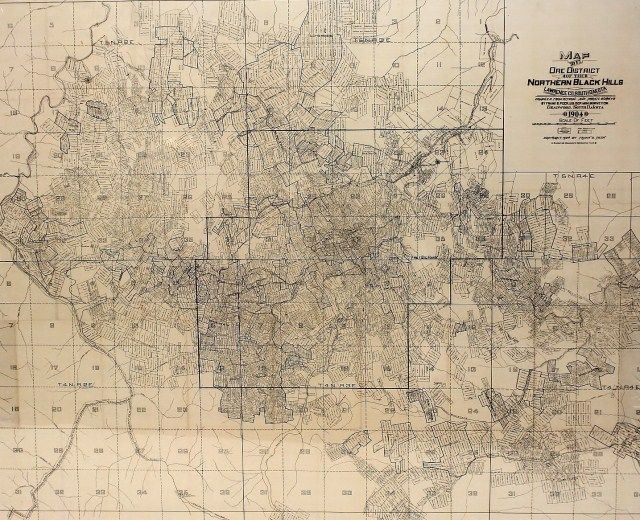 Excellent 1904 Map of Ore District of the Northern Black Hills