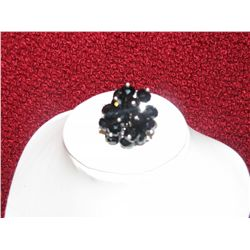 Crystal Ring Black