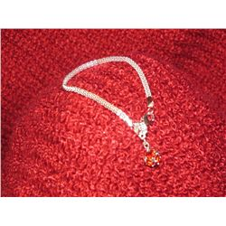 Light Red Swaovski Crystal Silver Bracelet