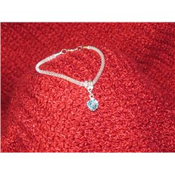 Light Blue Swaovski Crystal Silver Bracelet