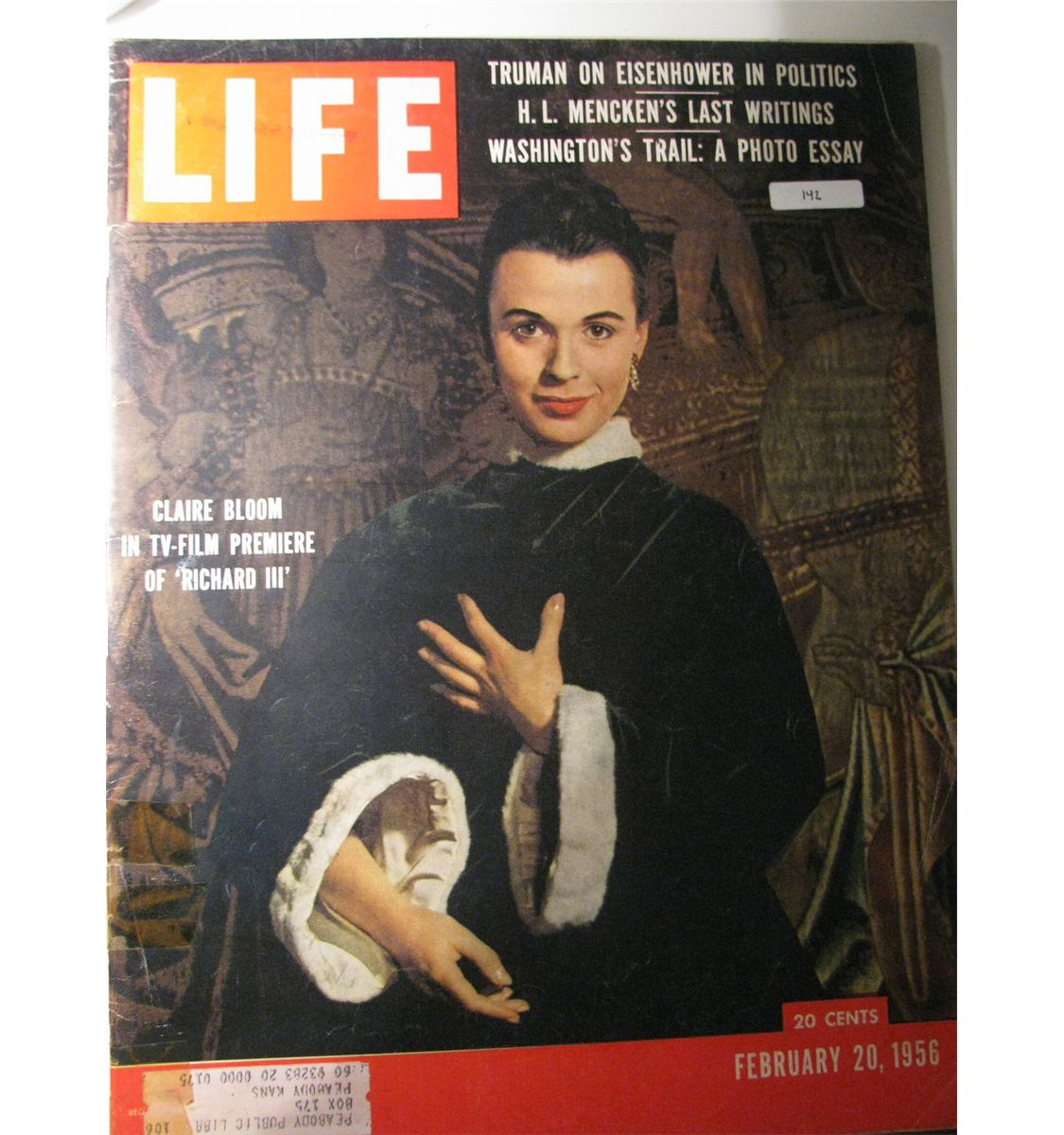 vintage 1956 life magazine cover clair bloom in tv film vintage 1956 life magazine cover clair bloom in tv film premier of richard iii