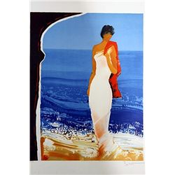 Emile Bellet Hand Signed and Numbered Serigraph - Bain de Mer