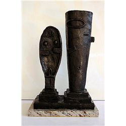Captivating Alberto Giacometti  Original, limited Edition  Bronze -Man and Woman