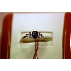 #47Unisex Fancy Sapphire and Diamond Ring