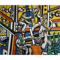 Constructors with Tree by Fernand Leger  Lithograph 