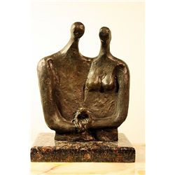Moore  Original limited Edition Bronze Sculpture -Family