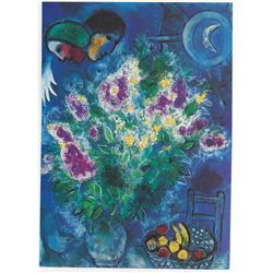 Still Life with Flowers- Chagall - Limited Edition on Canvas