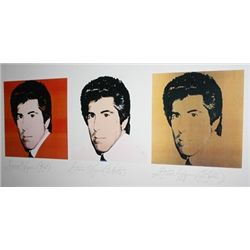 Steve Wynn (Red), Steve Wynn (White), Steve Wynn (Gold) by Andy Warhol  Lithograph