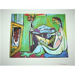 Limited Edition Picasso - Woman Drawing Before A Mirror - Collection Domaine Picasso