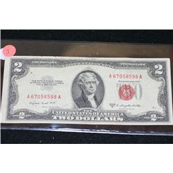 1953-B United States Note $2, Red Seal