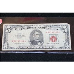 1963 United States Note $5, Red Seal