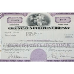 Gulf States Utilities Co. Stock Certificate Dated 1965