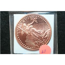 2011 Liberty Copper Round, .999 Fine 1 Oz.