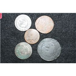 Foreign Coin, Various Dates, Conditions & Denominations, Lot of 5