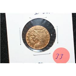 1914 Indian Chief $2 1/2 Gold Coin, Removed from Jewelry