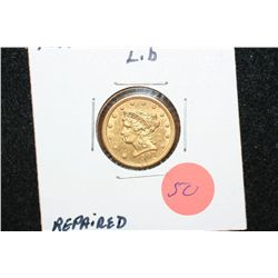 1907 Liberty $2 1/2 Gold Coin, Repaired