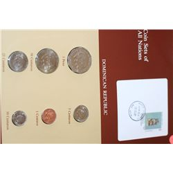 Dominican Republic; Coin Sets of All Nations W/Stamp Dated 1984