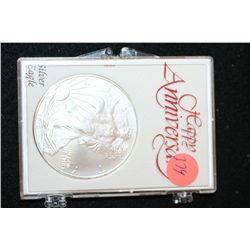 2010 Silver Eagle $1,  Happy Anniversary