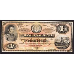 Banco Nacional, 1873 Issue Proof Banknote.