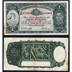 Commonwealth of Australia, Short Snorter Related Note with Drawing.