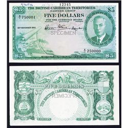 British Caribbean Territories, Eastern Group Specimen Banknote.