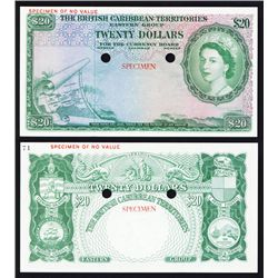 British Caribbean Territories, Eastern Group Color Trial Specimen Banknote.