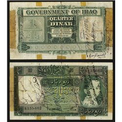 Government of Iraq, Law#44 of 1931 (1942) Issue Short Snorter.