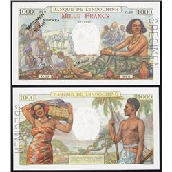 Banque De L'Indochine, 1937; 1940 ND Issue Specimen.