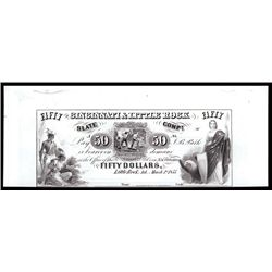 Cincinnati & Little Rock Slate Co. $50 Proprietary Proof Banknote