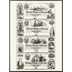 Marine Bank of Chicago Proprietary Proof Sheet.
