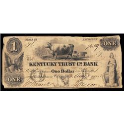 Kentucky Trust Co. Bank, 1852 Obsolete Banknote.
