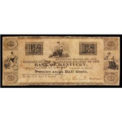 Bank of Kentucky, Philip Sturgest 1837 Obsolete Scrip Note.