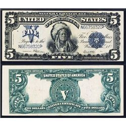 Silver Certificate, 1899, 45, Fr#281 Indian Chief Banknote.