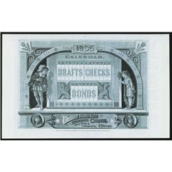 Western Bank Note &amp; Engraving Co. 1885 Advertising Sheet.