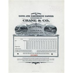 Crane & Co. Paper Makers 1890-1900 Specimen Price List of Bond & Parchment Papers.