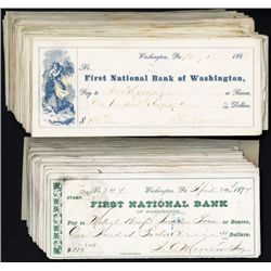 First National Bank of Washington Issued Checks (160+).