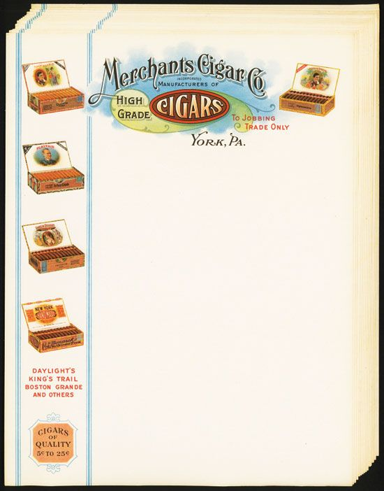 merchants cigar co fancy letterhead 15