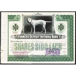 Farmers Deposit National Bank Issued Stock.