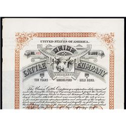 Union Cattle Co. Issued Bond.