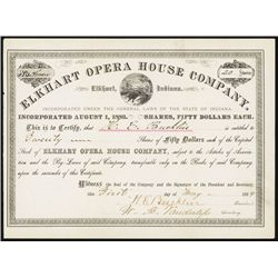 Elkhart Opera House Co. Issued Stock.