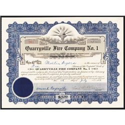 Quarryville Fire Co. No. 1 Issued Stock.