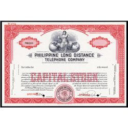 Philippine Long Distance Telephone Co. Specimen Stock.