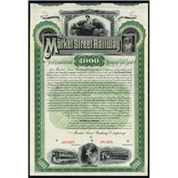 Market Street Railway Co. Specimen Bond.