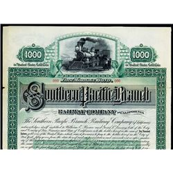 Southern Pacific Branch Railway Co., 1887, Specimen Bond.