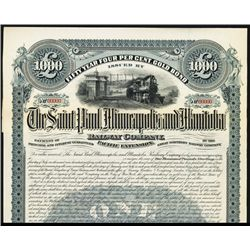 Saint Paul, Minneapolis and Manitoba Railway Co., 1890, Specimen Bond.
