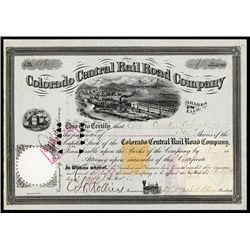 Colorado Central Rail Road Co. Issued Stock.