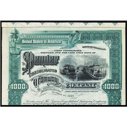 Denver Consolidated Tramway Co. Specimen Bond.